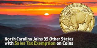 North Carolina Joins 35 Other States with Sales Tax Exemption on Coins