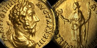 Ancient Coins – Choice Marcus Aurelius Gold Aureus at 2017 ANA Auction