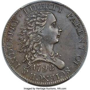 United States 1792 Birch Cent. Image courtesy HA.com