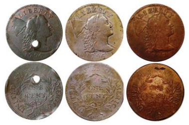 """1796 """"S-85"""" large cent possible sources. Images courtesy Jack D. Young, EAC"""