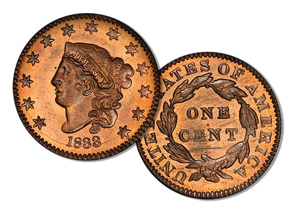 1833 Proof Cent