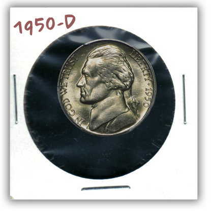 "1950-D Nickel. A 20th Century Marketed ""Rarity"""