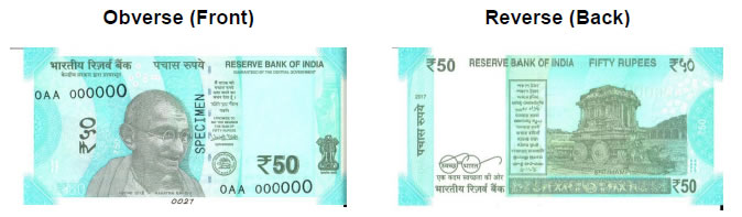 Reserve Bank of India issues new 50 rupee banknote