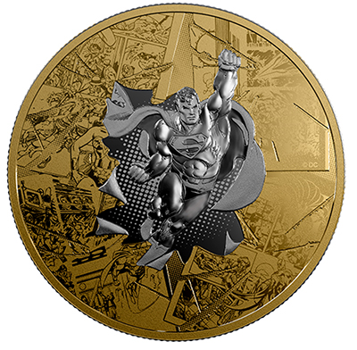 2017 Brave and the Bold 3 ounce Reverse Gold-Plated Pure Silver Coin