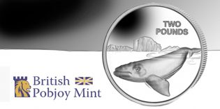 World Coins – Southern Right Whale Latest Silver Coin in Series from Pobjoy Mint