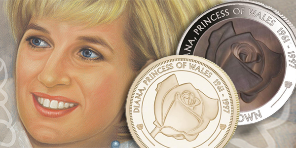 Diana Princess of Wales, Rose Coin 2017 Pobjoy Mint