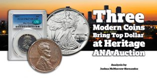 Three Modern Coins Grab Top Dollar At Heritage World's Fair of Money Auction