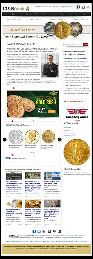 CoinWeek Exclusive – Sample IOPS Page