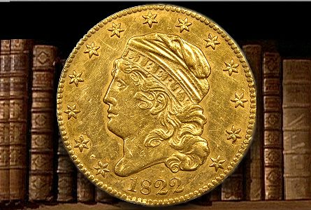 1822 $5 half eagle gold coin collecting