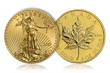 American Gold Eagle, Canadian Gold Maple Leaf