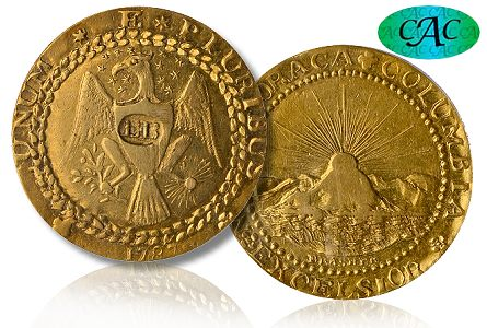 CAC Brasher Doubloon, America's First Gold Coin, Sells for a Record $7.395 million