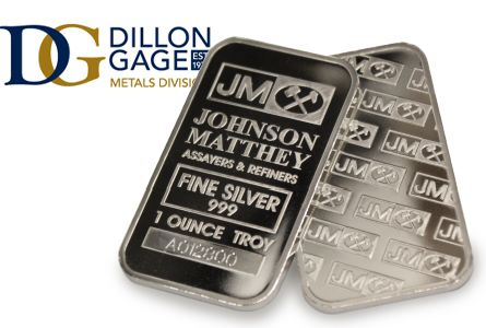 Dillon Gage Offering New, One-Ounce Johnson Matthey Silver Bars