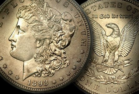 1893-S Morgan Silver Dollar PCGS MS-60