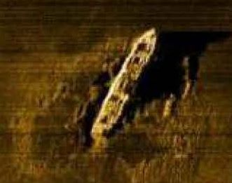 A side-scan sonar image of the SS Gairsoppa