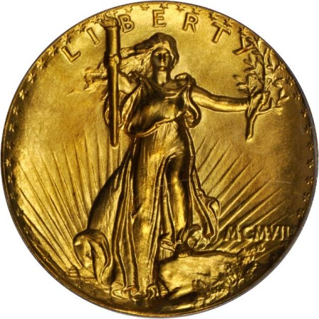 Stacks Bowers Saint-Gaudens Double Eagle. Ultra High Relief. Lettered Edge. Proof-69 (PCGS).