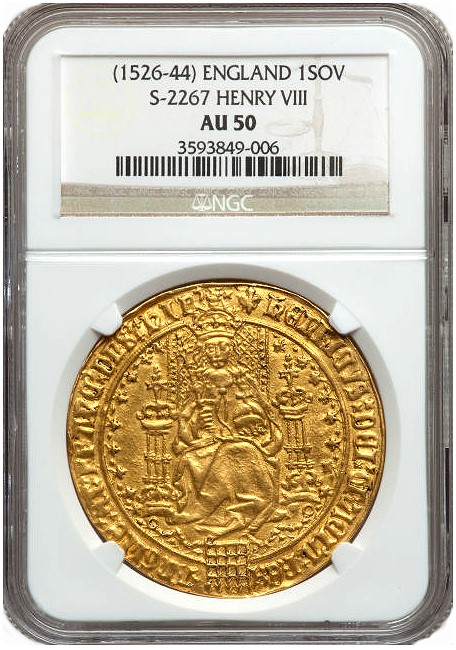 This Henry Viii Sovereign Is Ngc Graded Au 50 Which An Extremely High Grade For A Coin Of Type It The Star Upcoming Heritage Auction