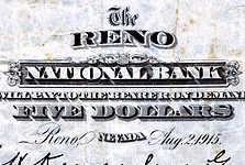 Nevada Issued Paper Money