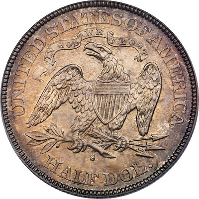 US Coins: 1878-s Liberty Seated Halh Dollar reverse