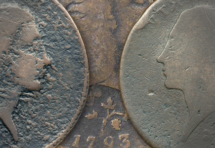 Two of Four Known Strawberry Leaf Large Cents Sell in the FUN Auction of the Mervis Collection