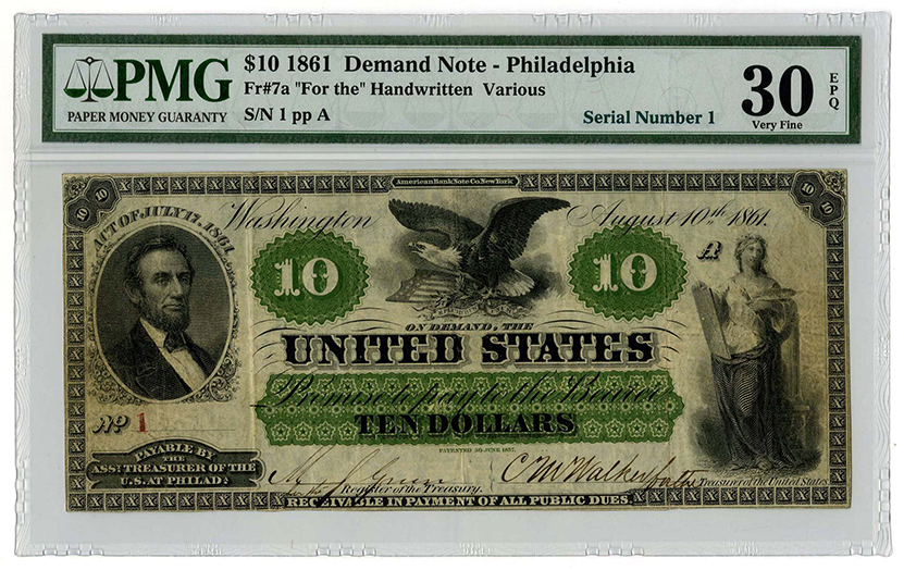 Rare U S Currency Pmg Grades Third