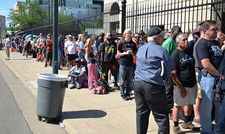 The line outside the Denver Mint, August 6, 2014.