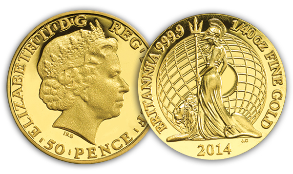 2014_UK_Britannia_1_40o__Gold_Proof_Coin_Obverse