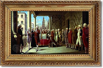 George Washington's inauguration as the first President of the United States which took place on April 30, 1789