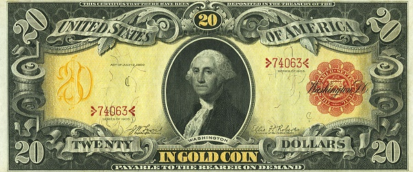 Five Gold Certificates Featured in the Heritage Currency Auction at FUN