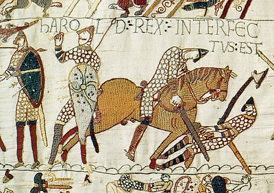 Bayeux Tapestry depicting the Battle of Hastings