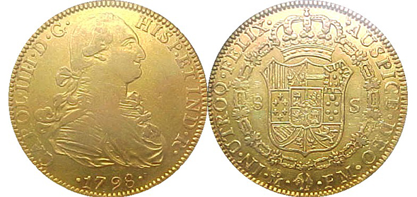 Spanish Doubloon1798
