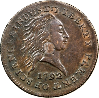 1792 Cent. Silver Center