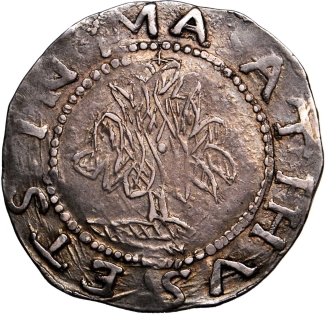 1652 Willow Tree Shilling.