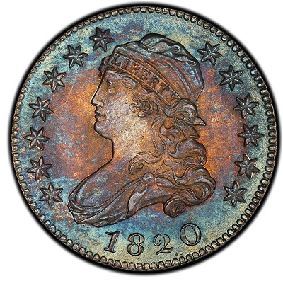 Pogue Lot 1063 -  1820 Capped Bust Quarter. Browning-2. Large 0. Rarity-2. Mint State-66 (PCGS).