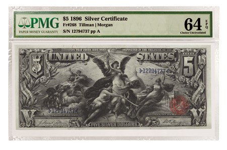 1896 $5 Educational Note Silver Certificate