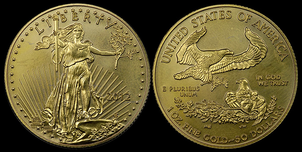 Counterfeit Detection 2012 50 American Gold Eagle