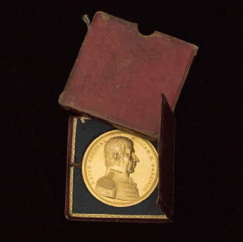 William Henry Harrison Congressional Gold Medal in the original presentation case