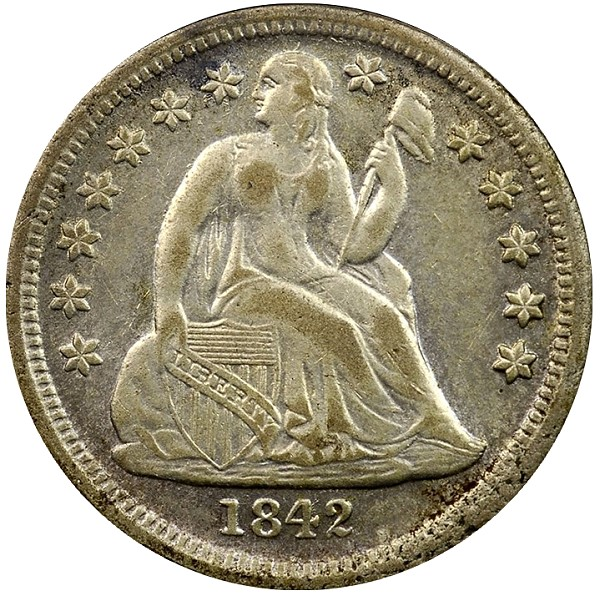 1842-O Dime - Counterfeit coin
