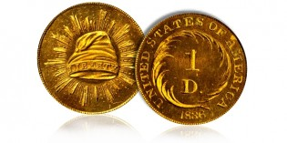 Gorgeous Gem Judd-67 Pattern Gold Dollar to be Featured at Stacks Bowers Rarities Night in Chicago