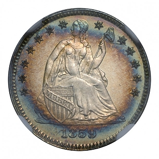 1859 H10C PCGS PR67 Cameo Finest Known