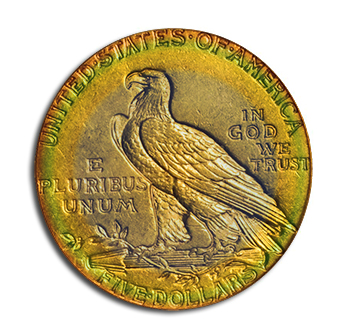Toned Gold Coin