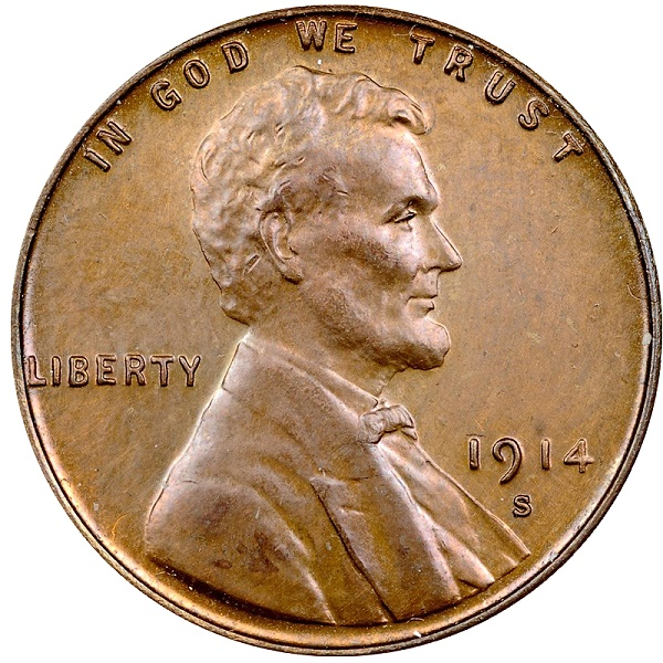 Counterfeit coins 1914-S Lincoln Cent