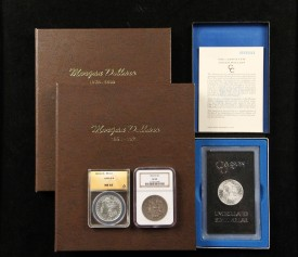 95-piece set of Morgan silver dollars