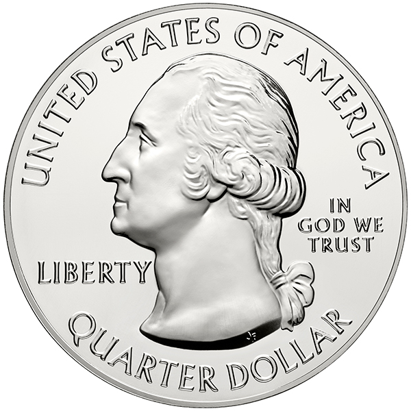 United States 2015 America the Beautiful Saratoga Quarter