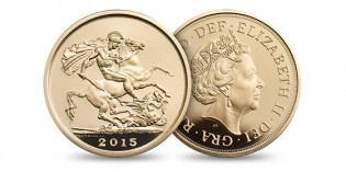 Royal Mint Issues Limited Edition 2015 Five-Sovereign Piece