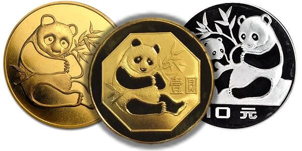 Gold Silver and Brass Pandas