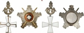 Finland. Order of the Cross of Liberty. Breast Star of the Cross of Liberty 1st Class with Swords, Oak Leaves and Star. Very rare. I-II.
