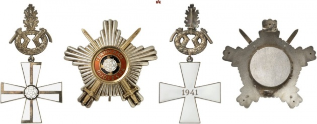 Finland. Order of the Cross of Liberty. Breast Star of the Cross of Liberty 1st Class with Swords, Oak Leaves and Star.