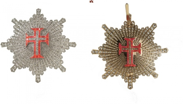 Portugal. Military Order of Christ of the Republic of Portugal. Grand Officer's Breast Star with Brilliants. Extremely rare. II.