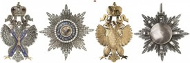 Russia. Order of Saint Andrew. Breast Star in Brilliants. I-II.