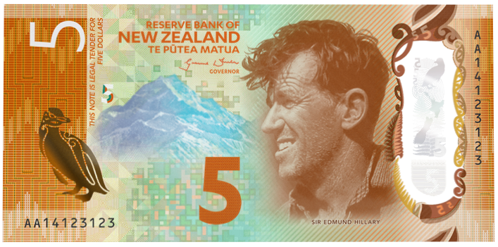 New Zealand 2017 5 Bank Note Feat Sir Edmund Hillary